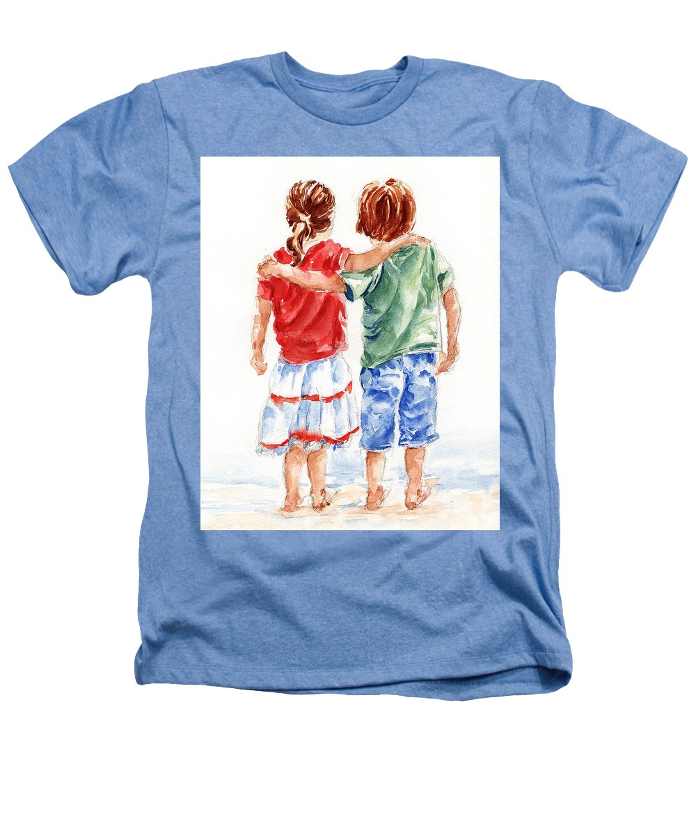 Watercolour Heathers T-Shirt featuring the painting My Friend by Stephie Butler