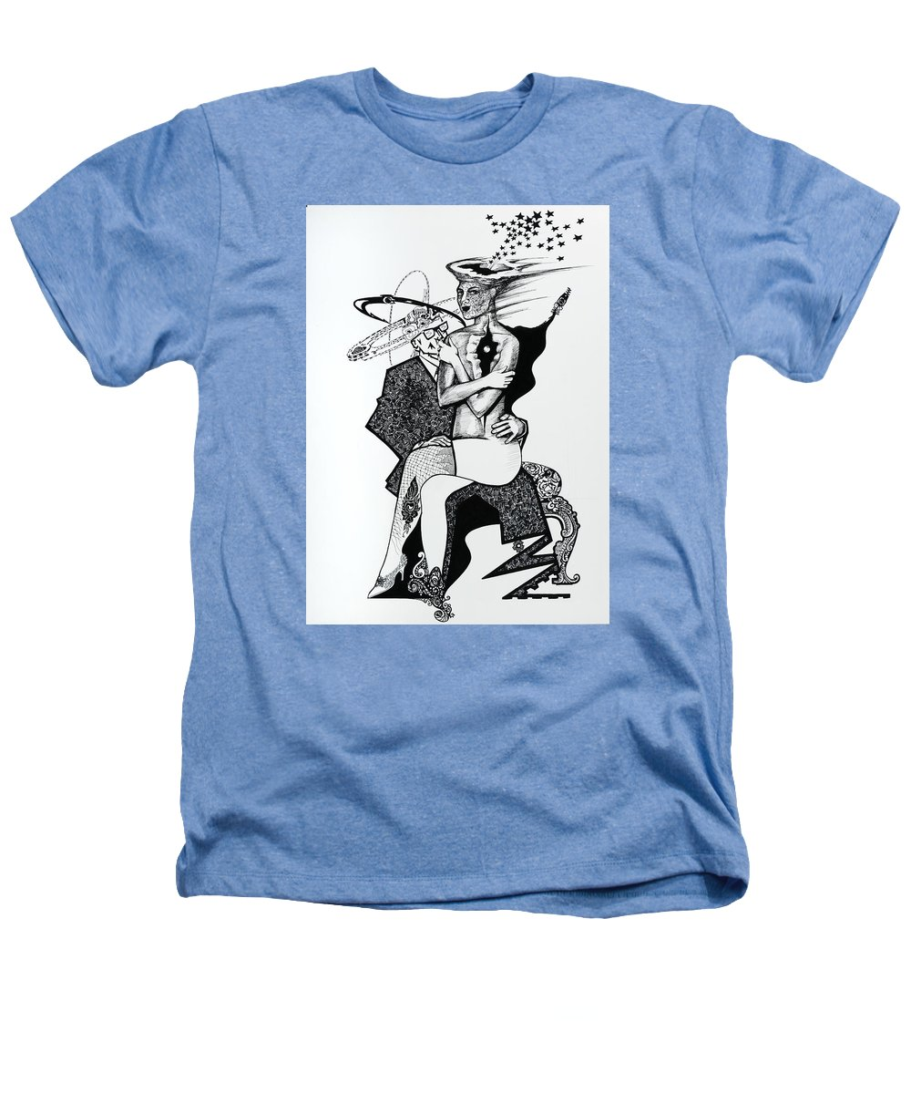 Love Heathers T-Shirt featuring the drawing My Shadow And I by Yelena Tylkina