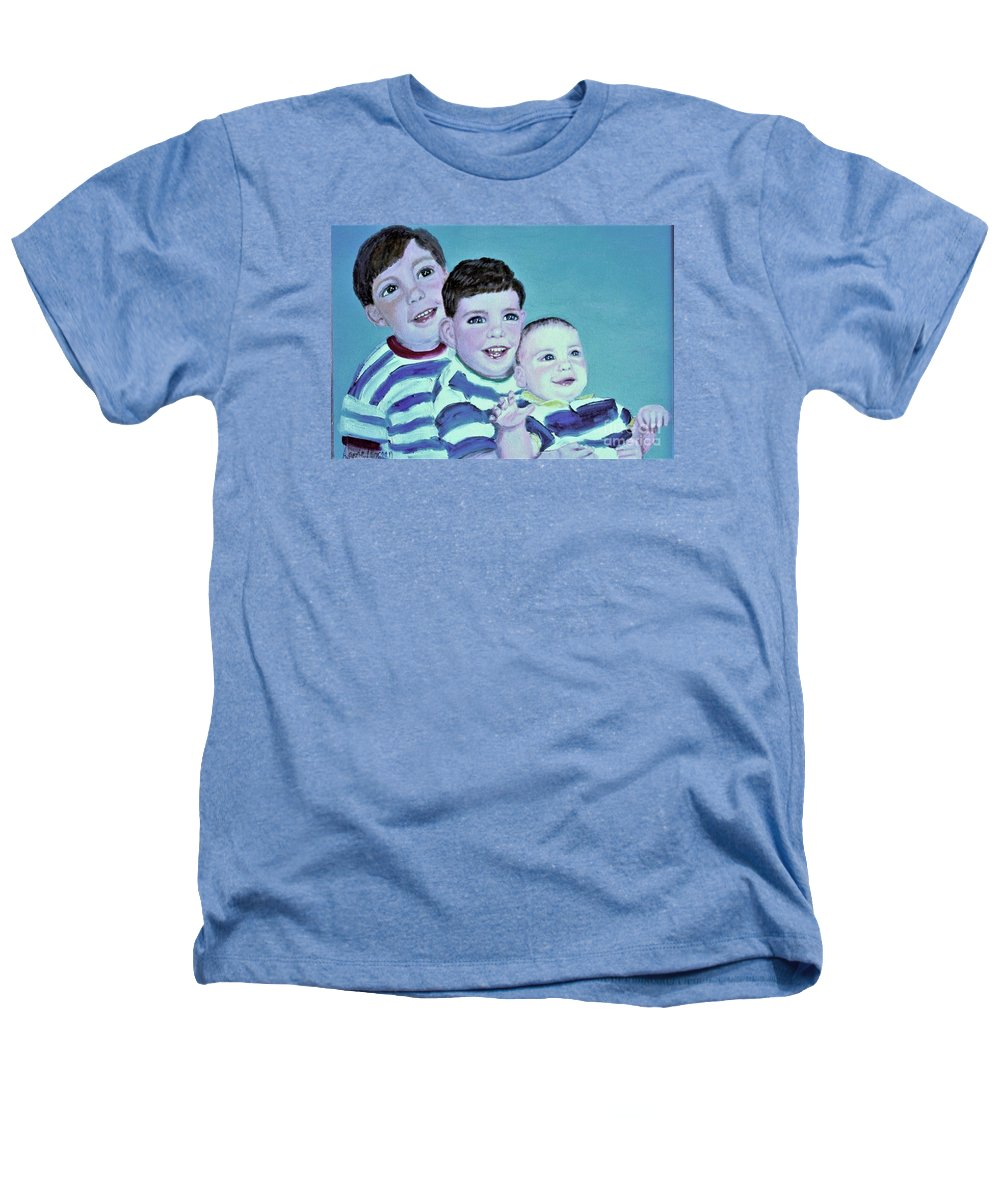 Children Heathers T-Shirt featuring the painting My Three Sons by Laurie Morgan