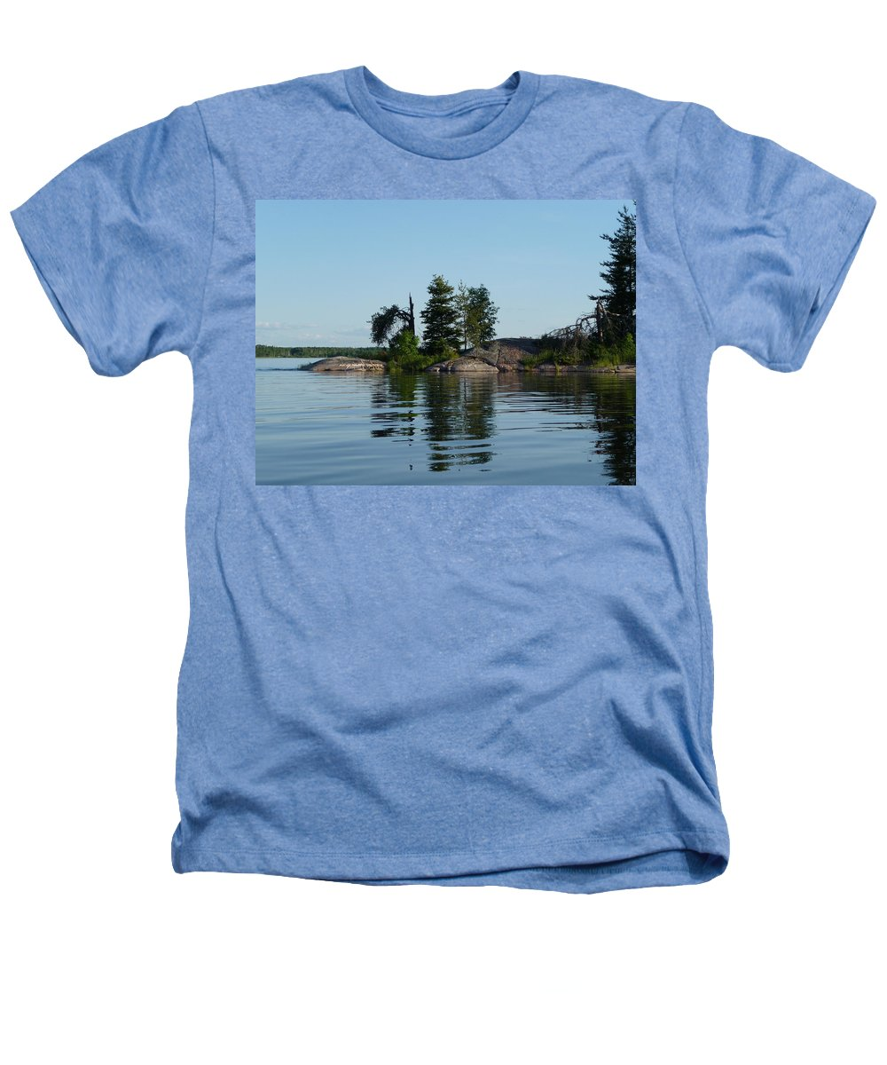 Lake Heathers T-Shirt featuring the photograph Natural Breakwater by Ruth Kamenev