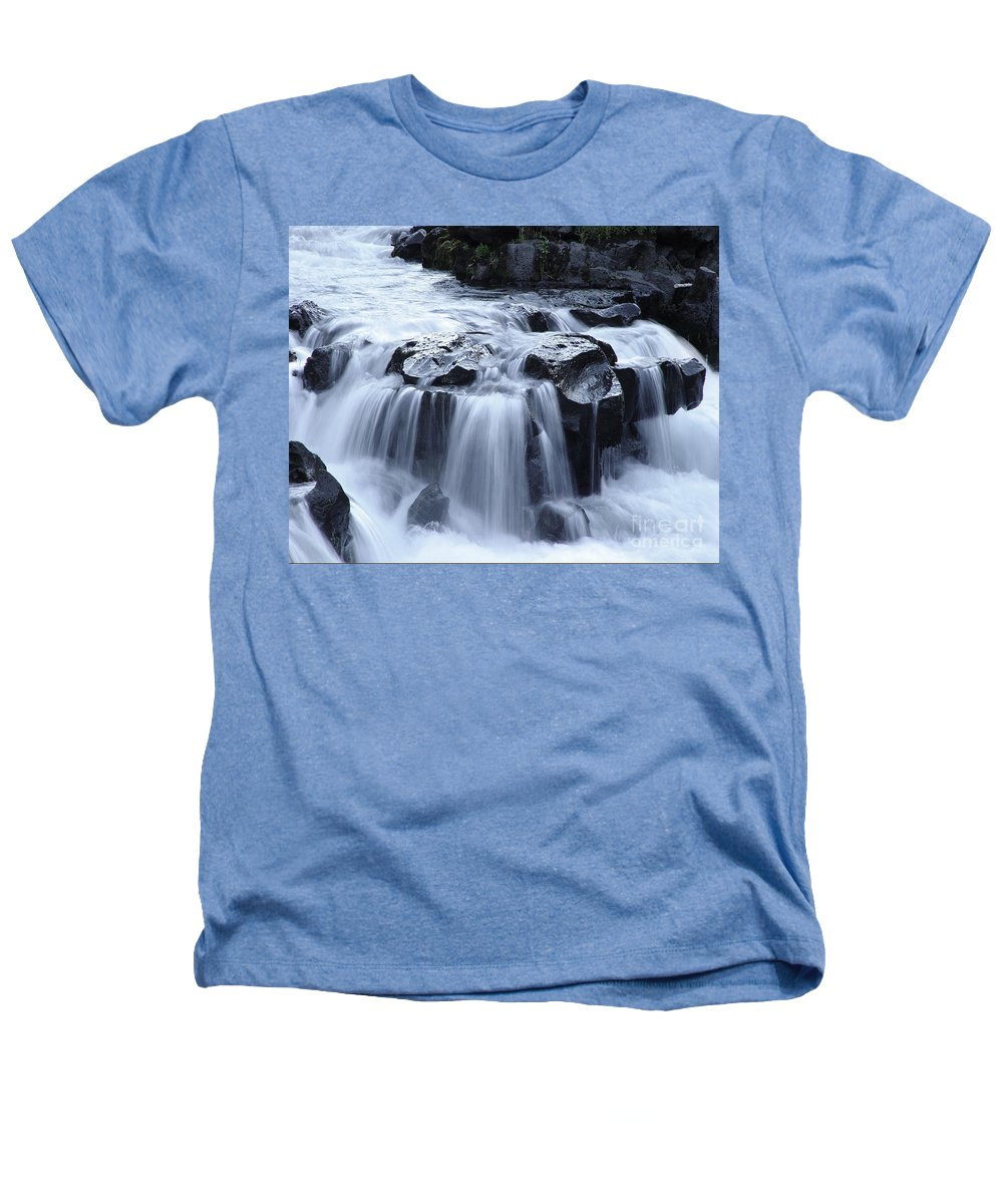 Waterfall Heathers T-Shirt featuring the photograph Natural Bridges Falls 02 by Peter Piatt