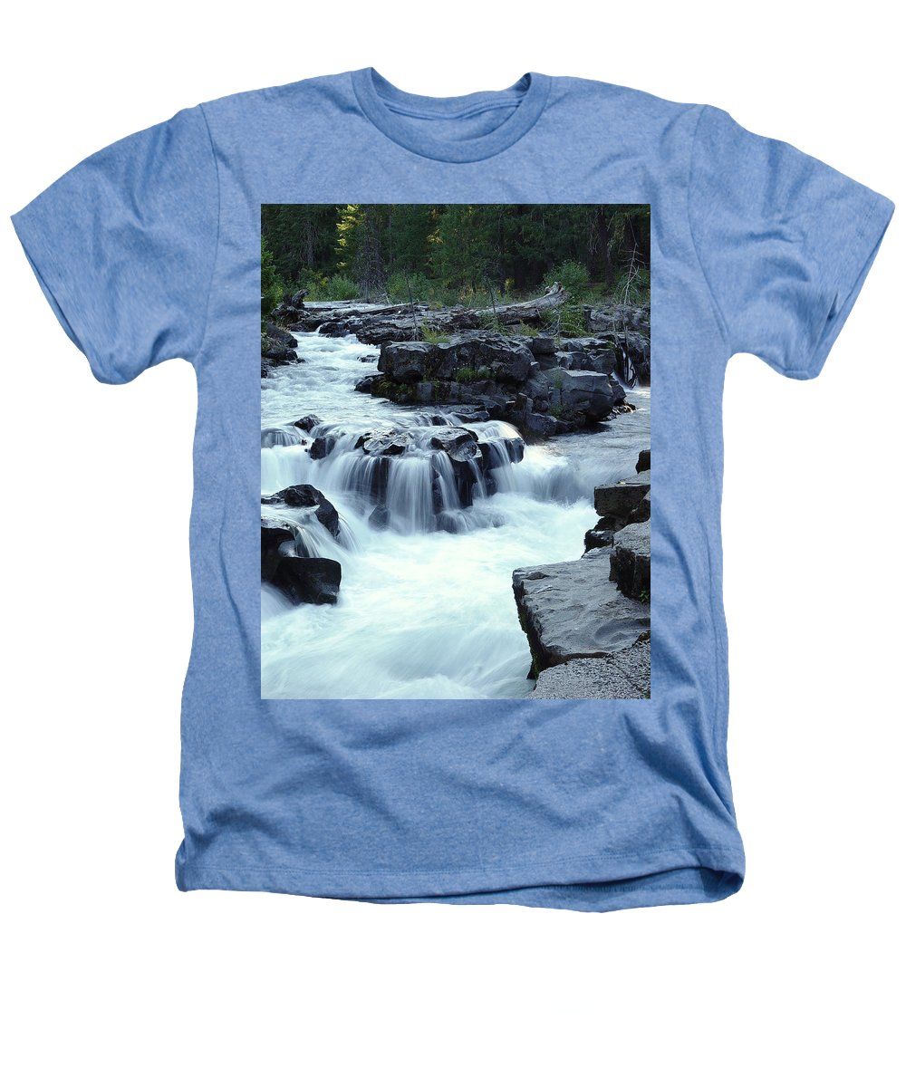 Waterfall Heathers T-Shirt featuring the photograph Natural Bridges Falls 03 by Peter Piatt