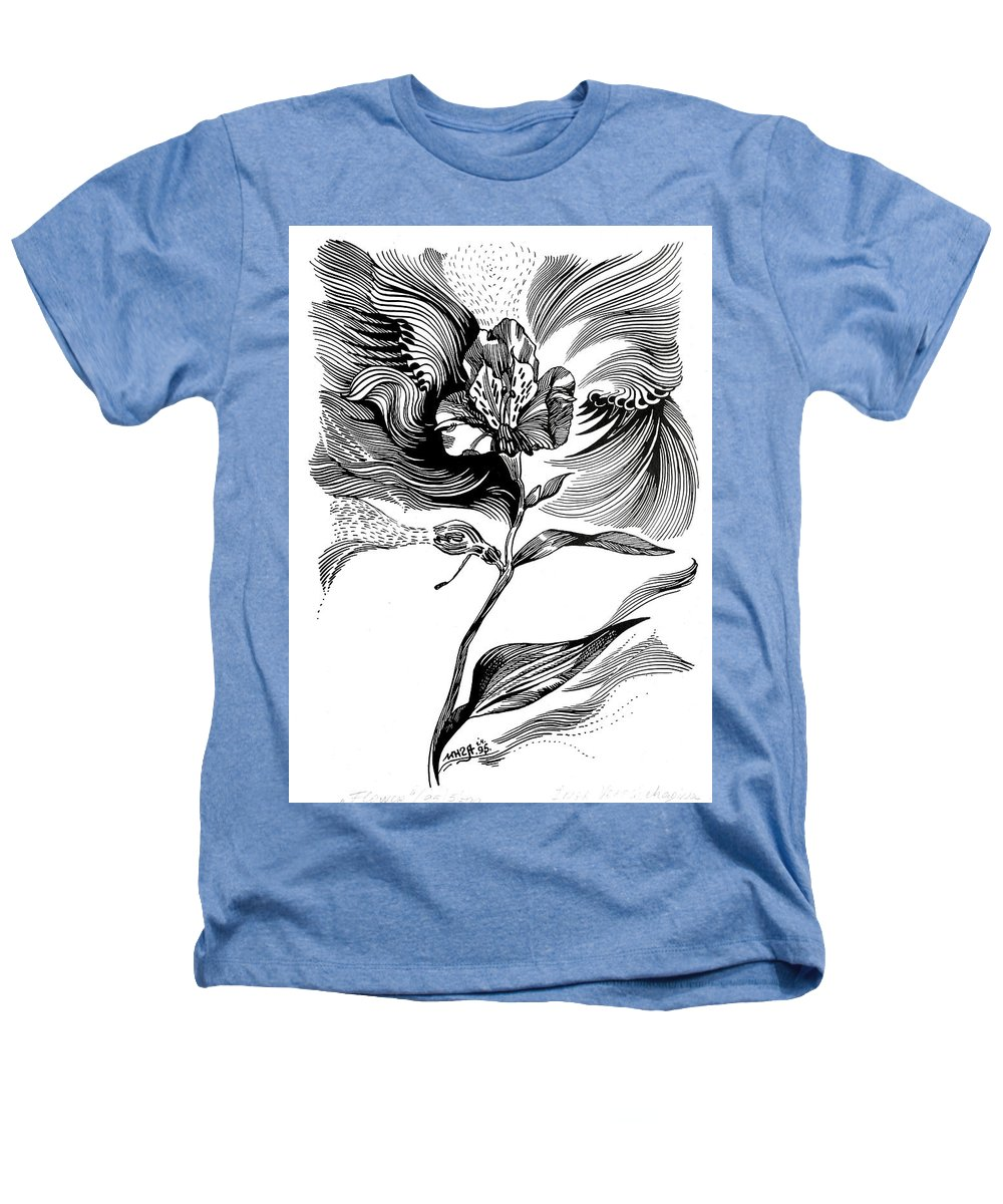 Inga Vereshchagina Heathers T-Shirt featuring the drawing Nature's Waves by Inga Vereshchagina