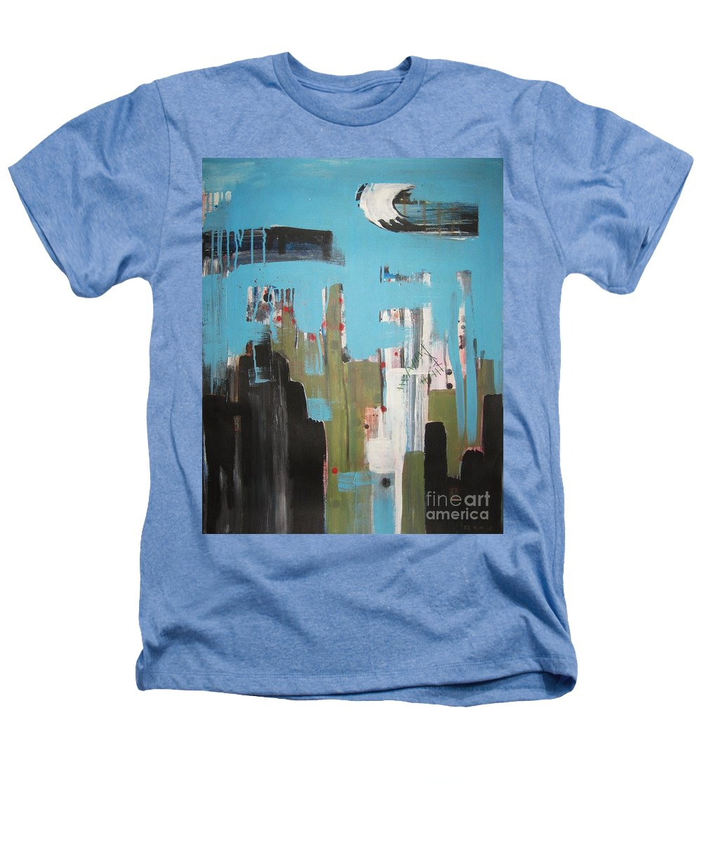 Abstract Paintings Heathers T-Shirt featuring the painting Neglected Area by Seon-Jeong Kim
