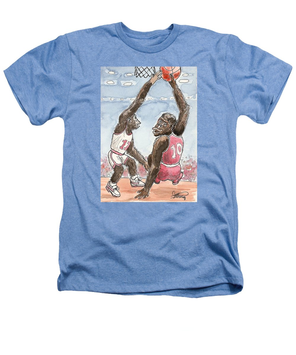 Basketbal Heathers T-Shirt featuring the painting No No No by George I Perez