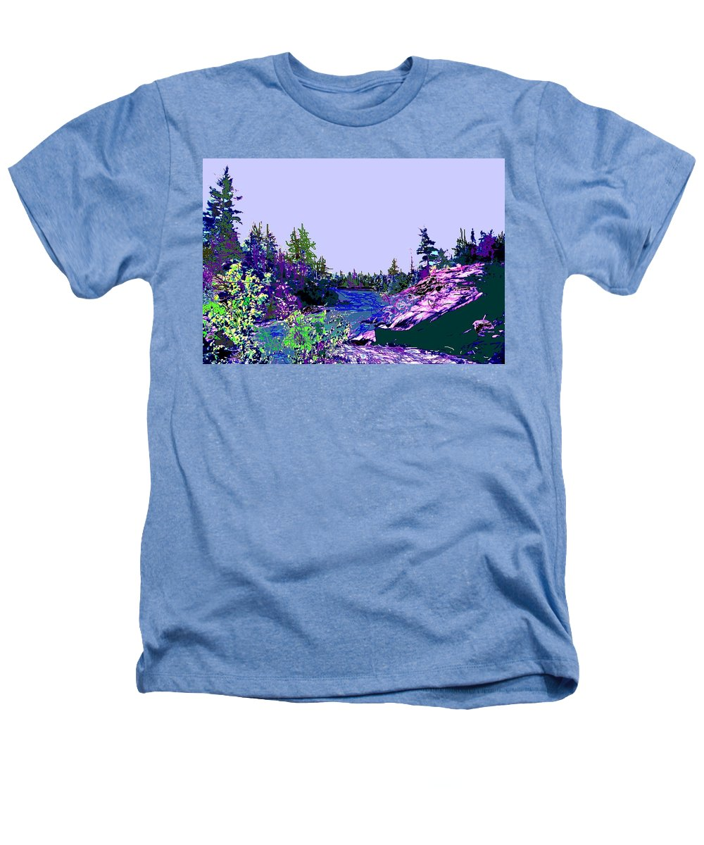 Norlthern Heathers T-Shirt featuring the photograph Northern Ontario River by Ian MacDonald