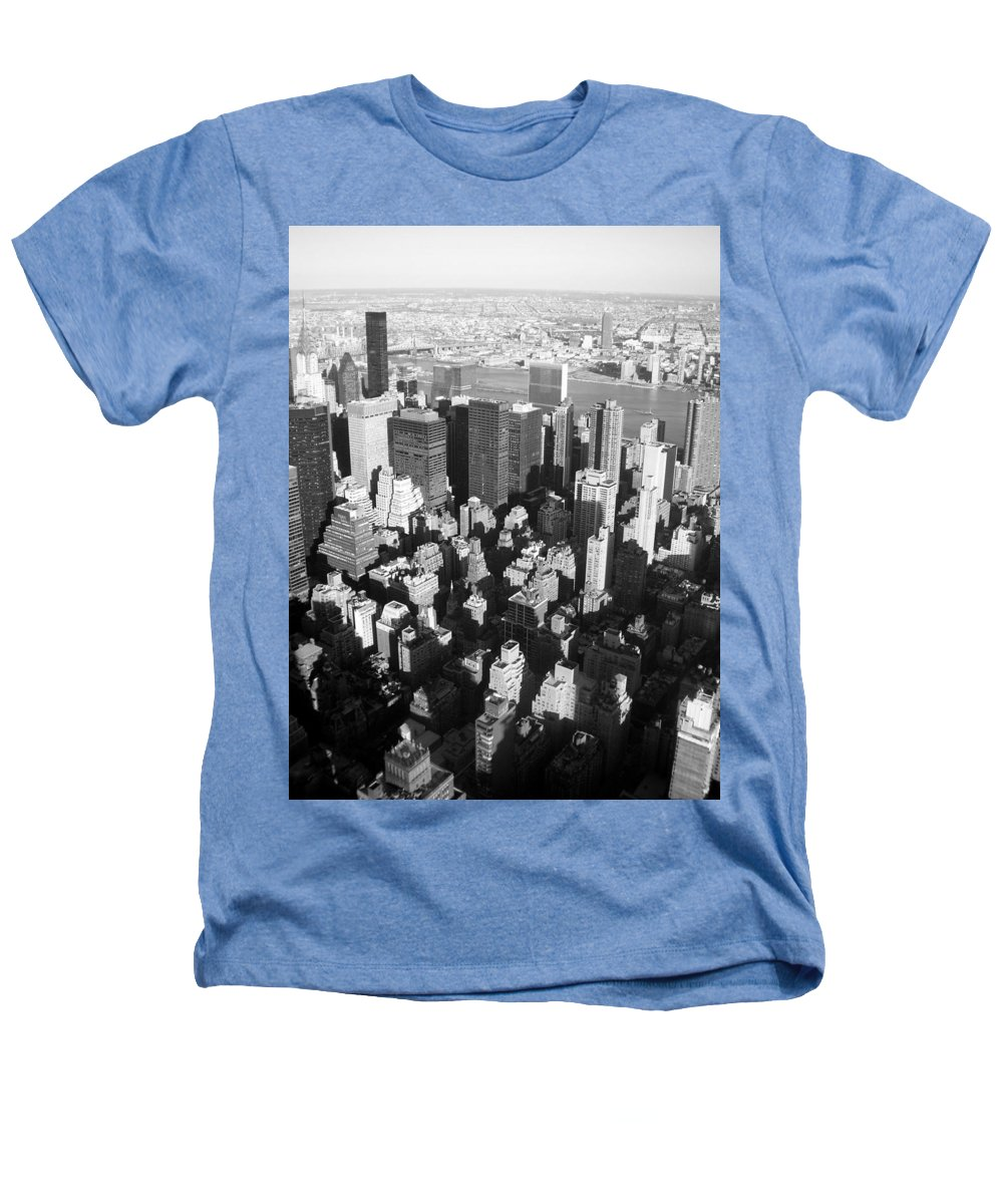 Nyc Heathers T-Shirt featuring the photograph Nyc Bw by Anita Burgermeister
