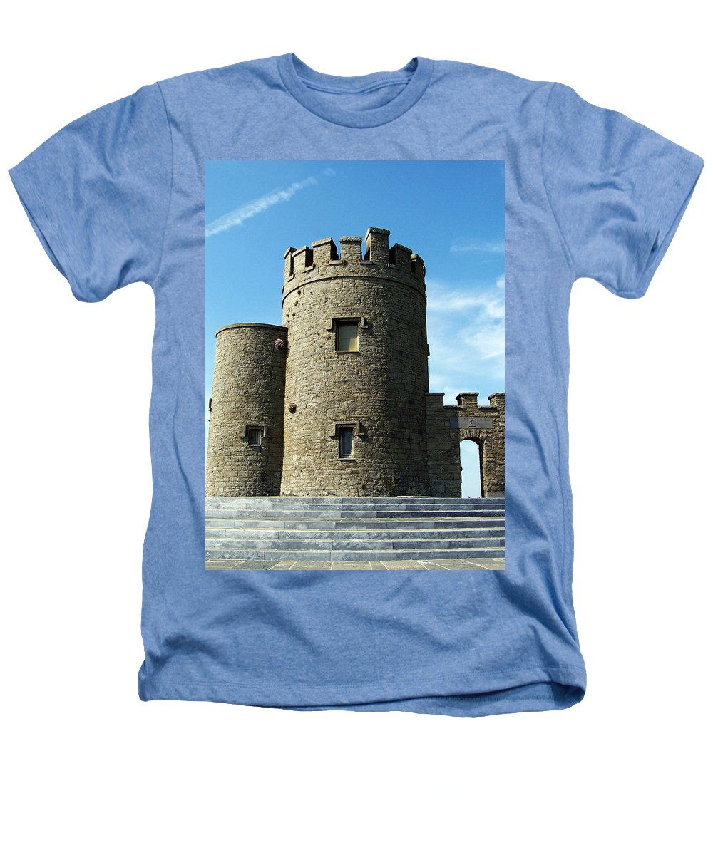 Irish Heathers T-Shirt featuring the photograph O Brien's Tower Cliffs Of Moher Ireland by Teresa Mucha