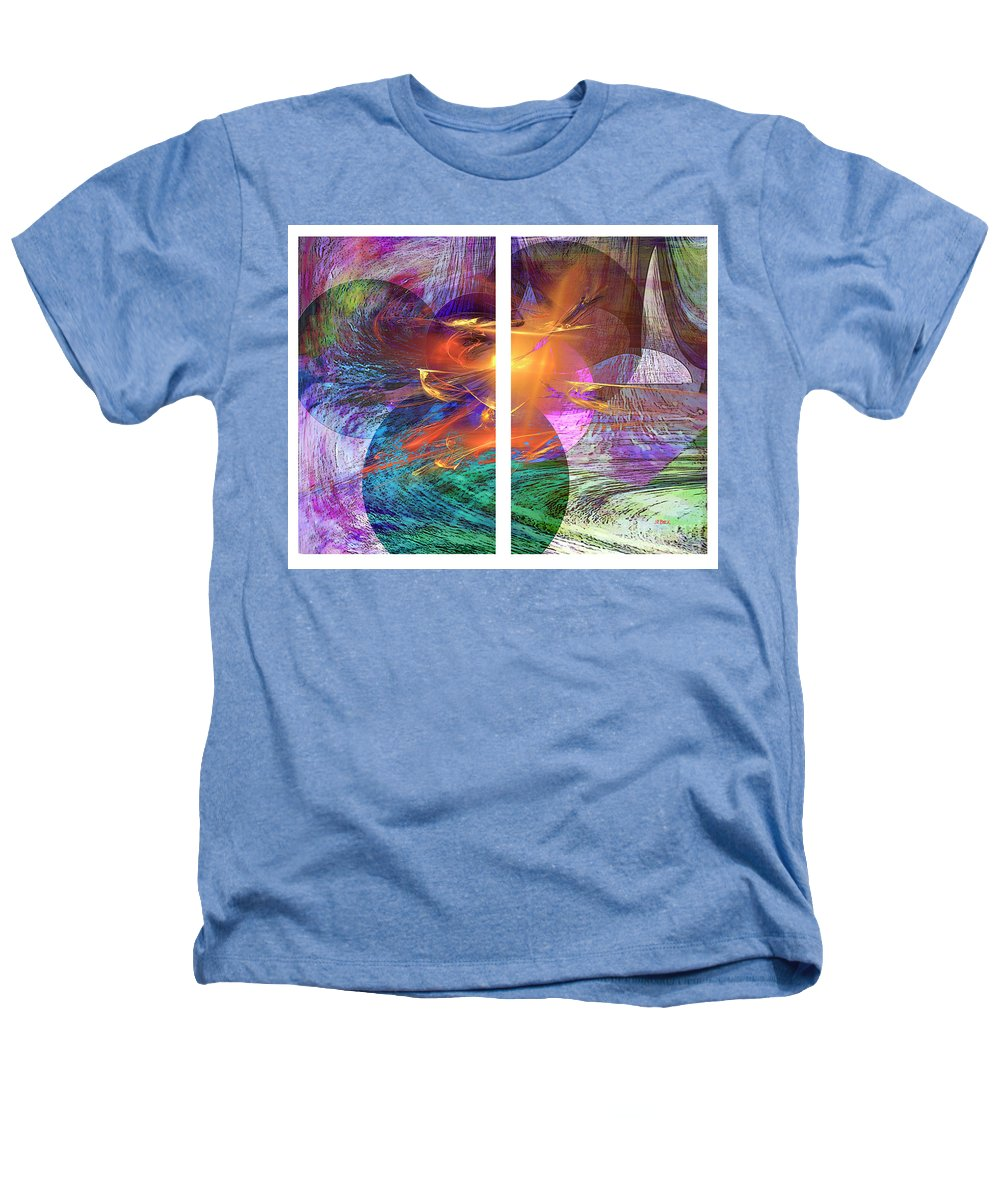 Ocean Fire Heathers T-Shirt featuring the digital art Ocean Fire by John Beck