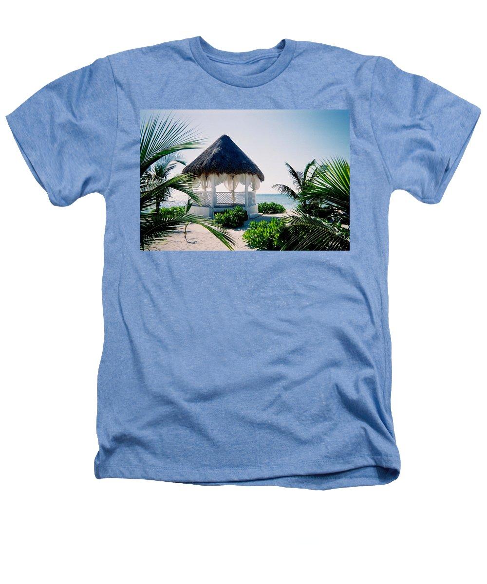 Resort Heathers T-Shirt featuring the photograph Ocean Gazebo by Anita Burgermeister