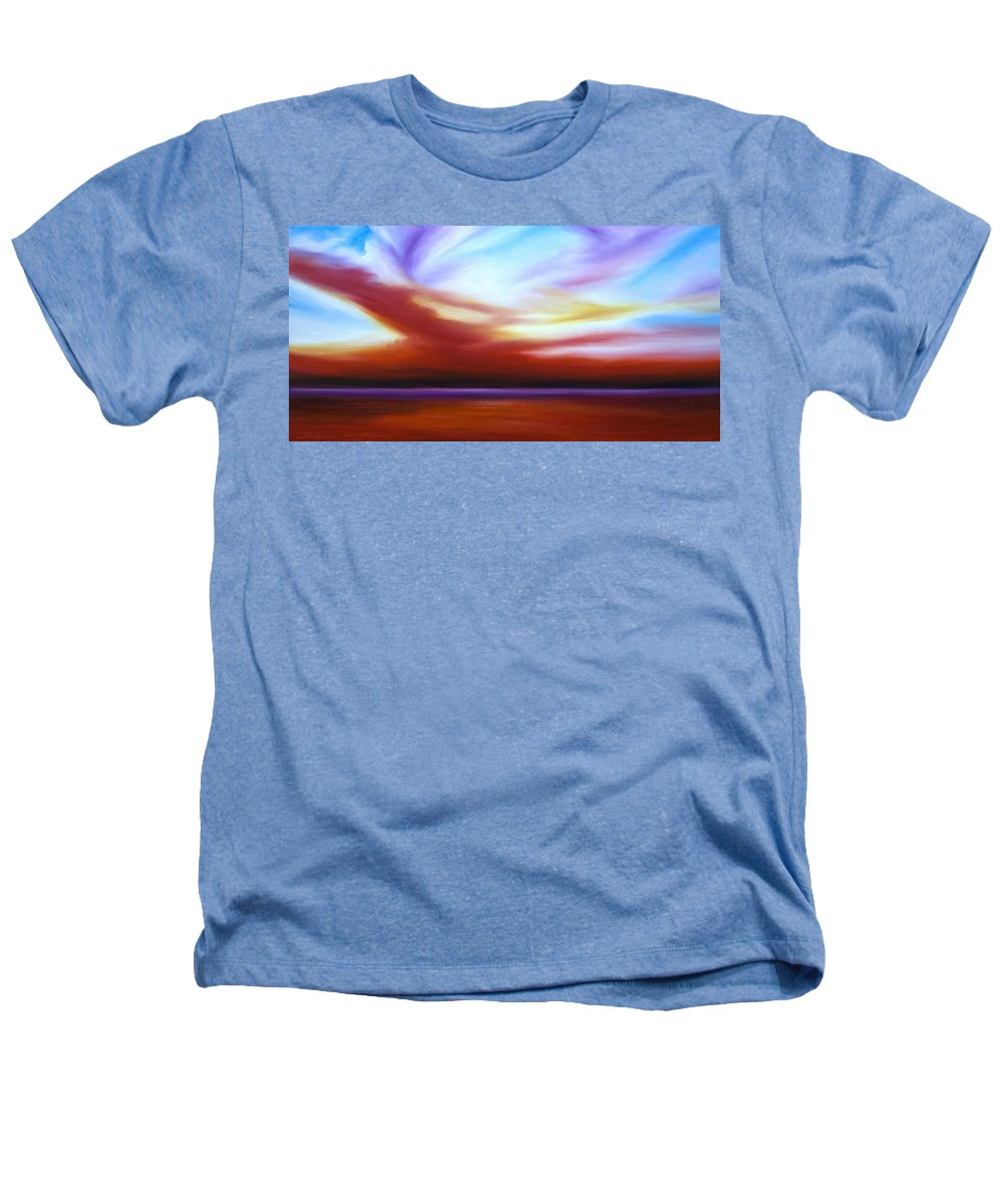 Skyscape Heathers T-Shirt featuring the painting October Sky IIi by James Christopher Hill