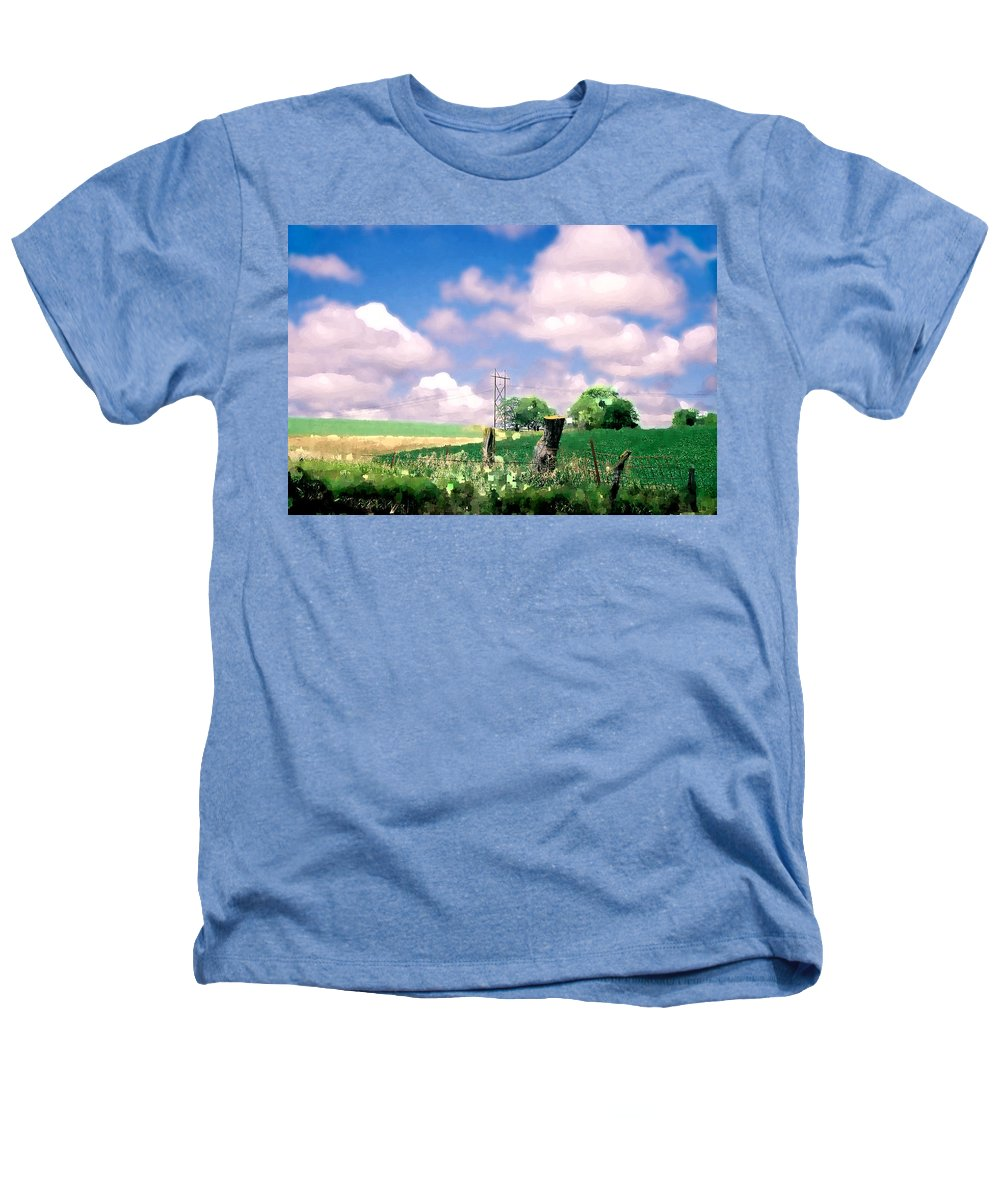 Landscape Heathers T-Shirt featuring the photograph Off The Grid by Steve Karol