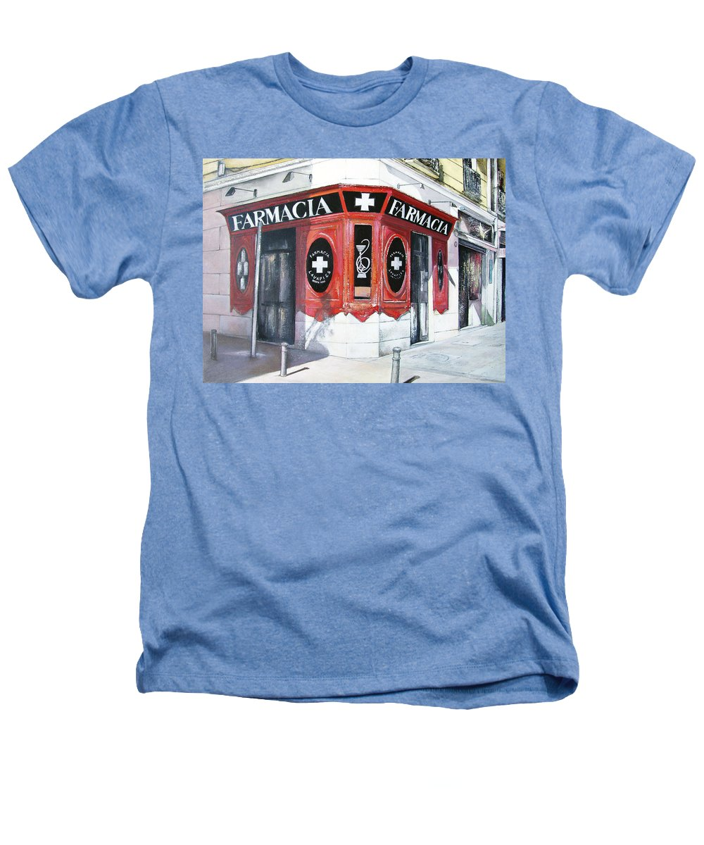 Pharmacy Heathers T-Shirt featuring the painting Old Pharmacy by Tomas Castano