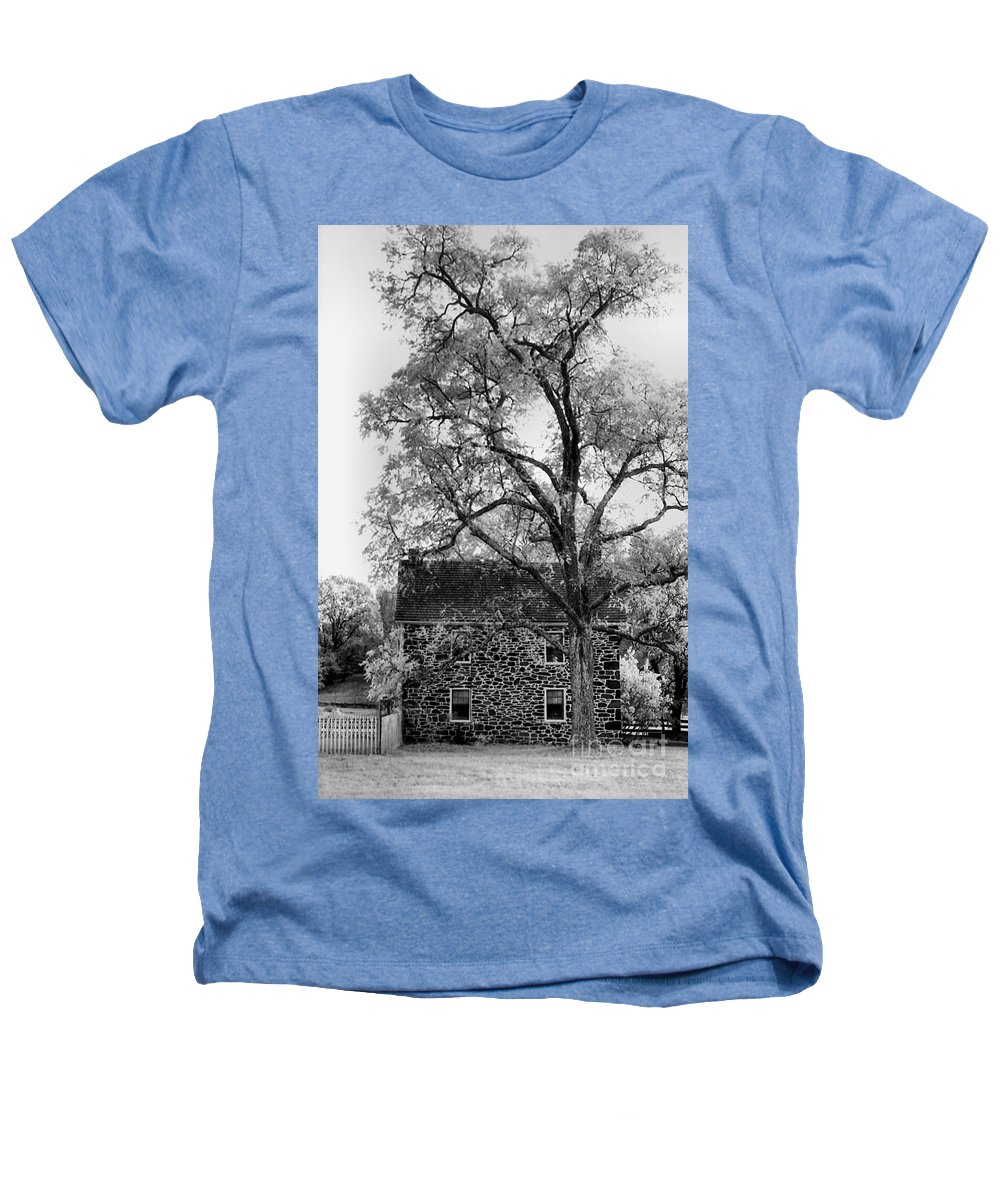 Homes Heathers T-Shirt featuring the photograph Old Stone House by Richard Rizzo
