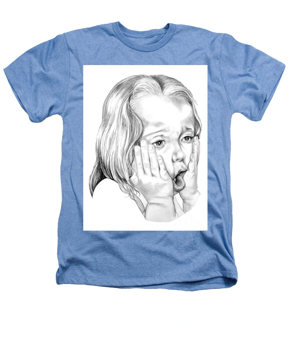 Portrait Heathers T-Shirt featuring the drawing OMG by Murphy Elliott