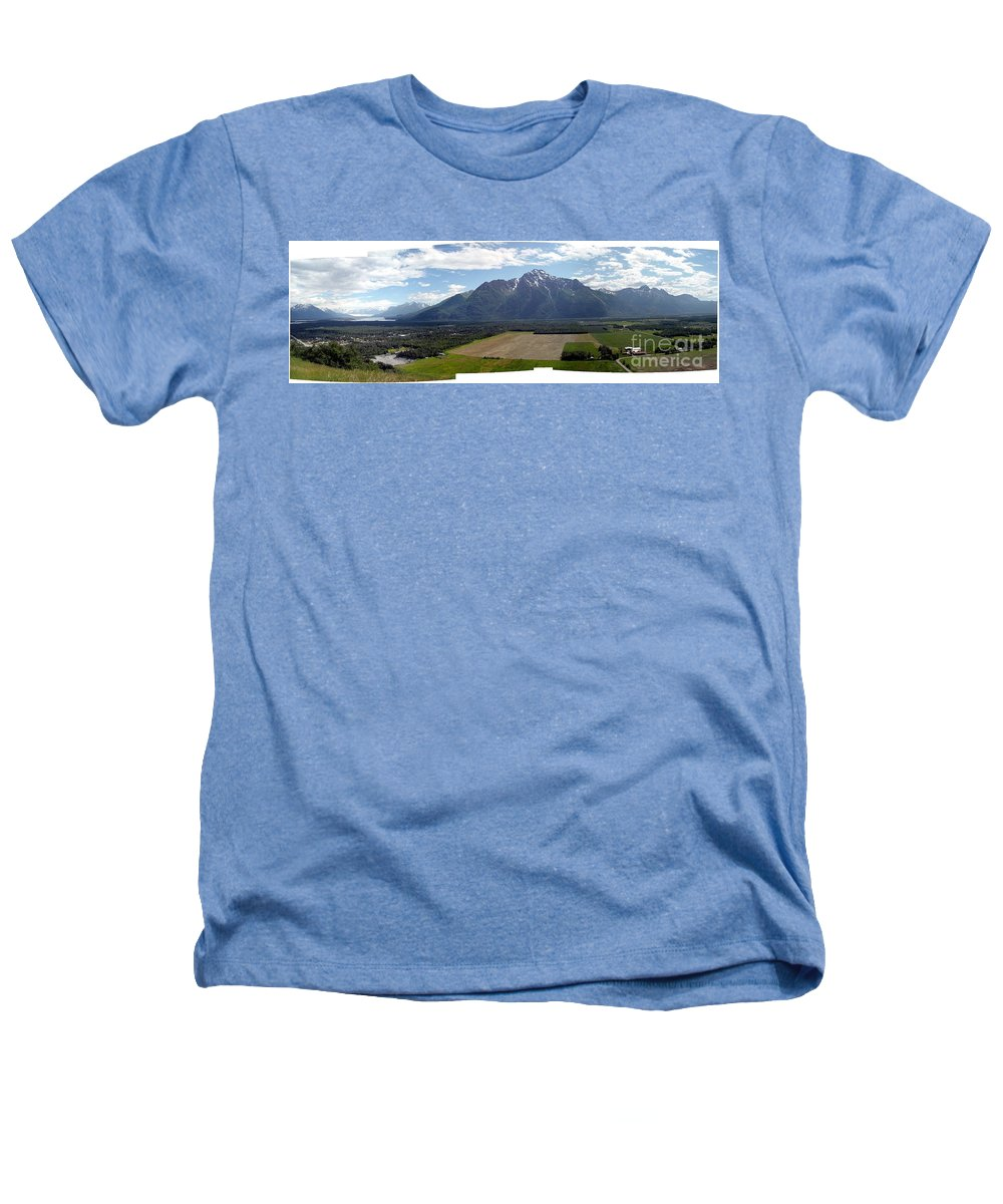 Landscape Heathers T-Shirt featuring the photograph On A Butteiful Day by Ron Bissett