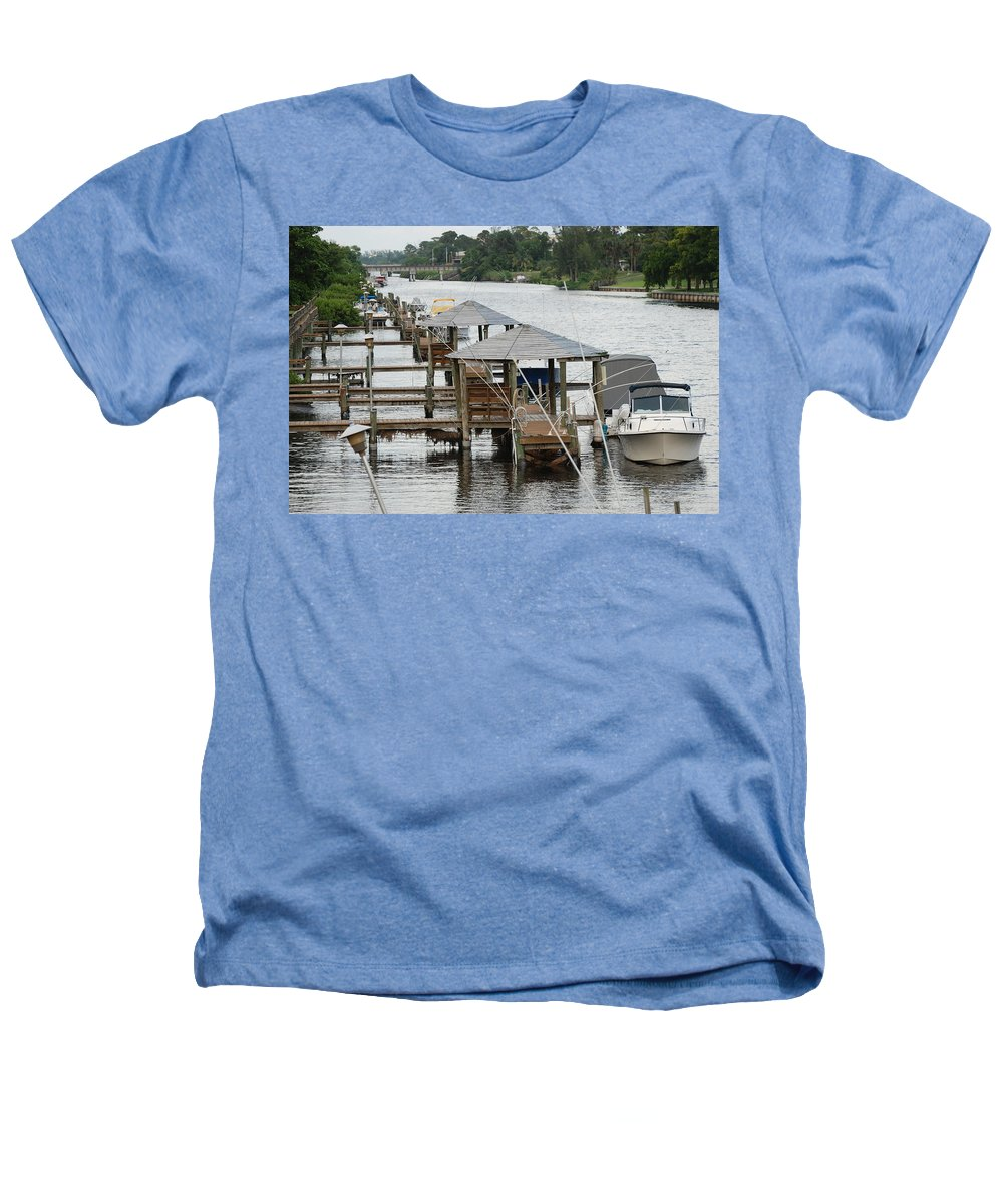 Boats Heathers T-Shirt featuring the photograph On The Hillsboro Canal by Rob Hans