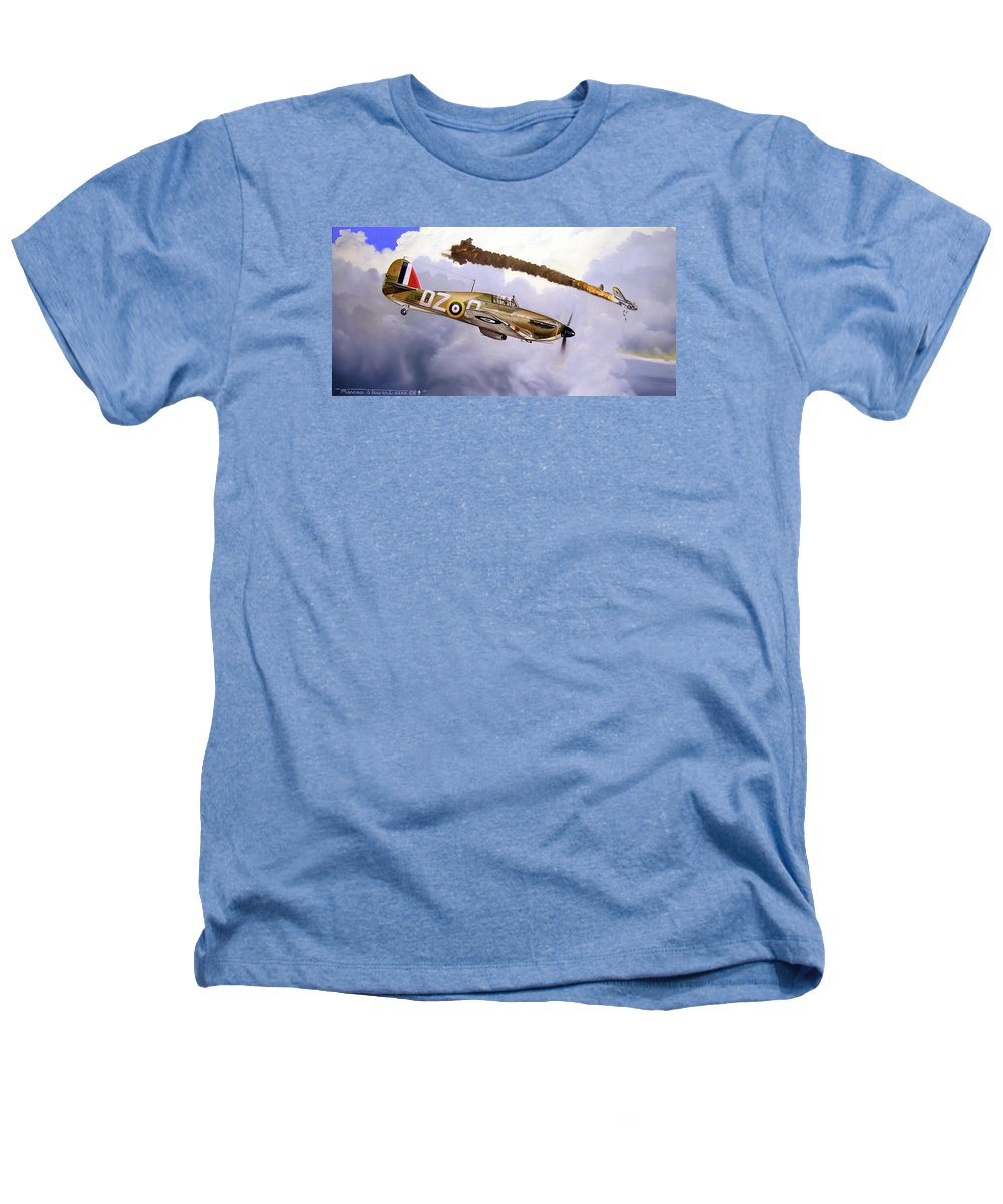 Aviation Art Heathers T-Shirt featuring the painting One Of The Few by Marc Stewart
