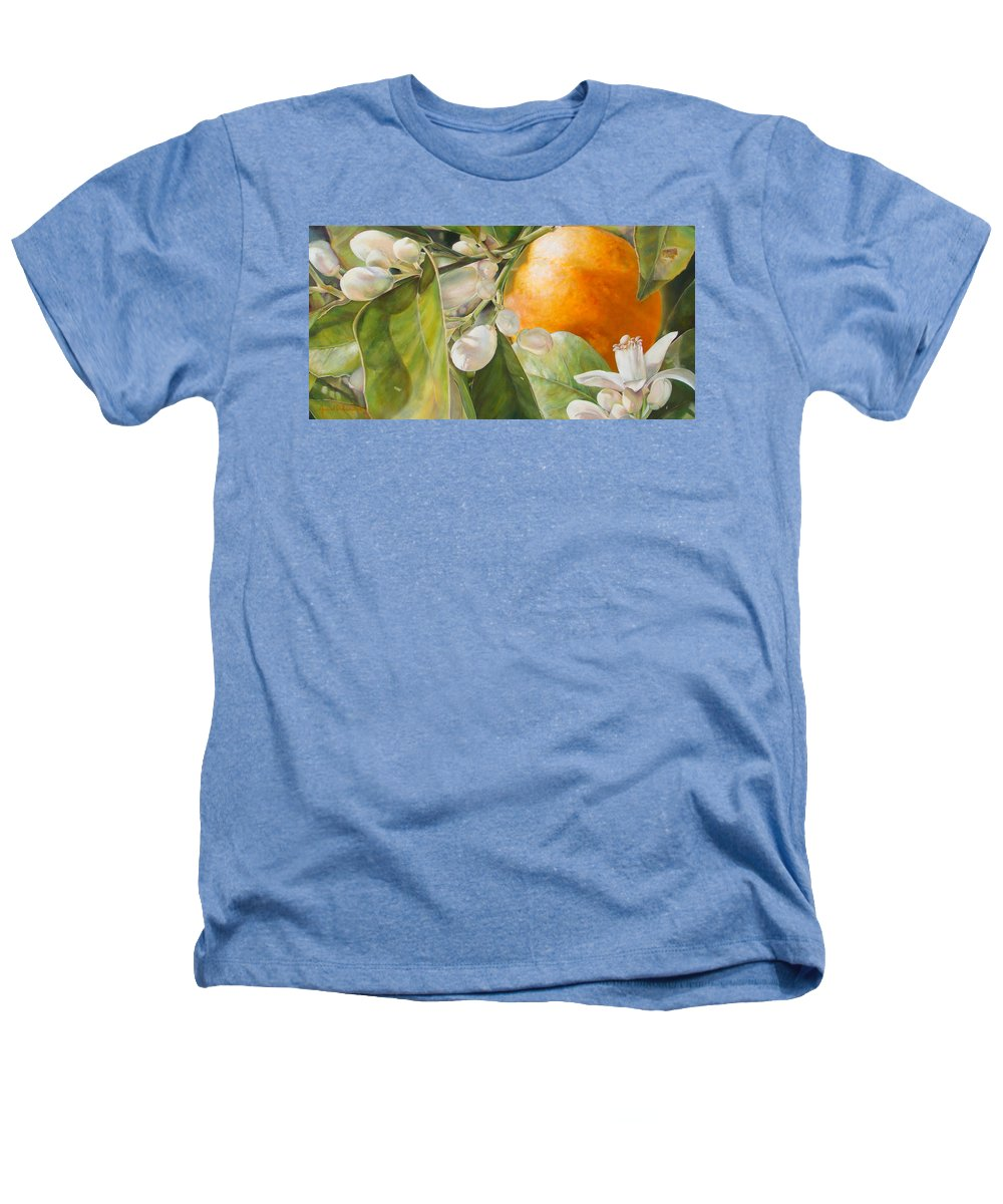 Floral Painting Heathers T-Shirt featuring the painting Orange Fleurie by Dolemieux
