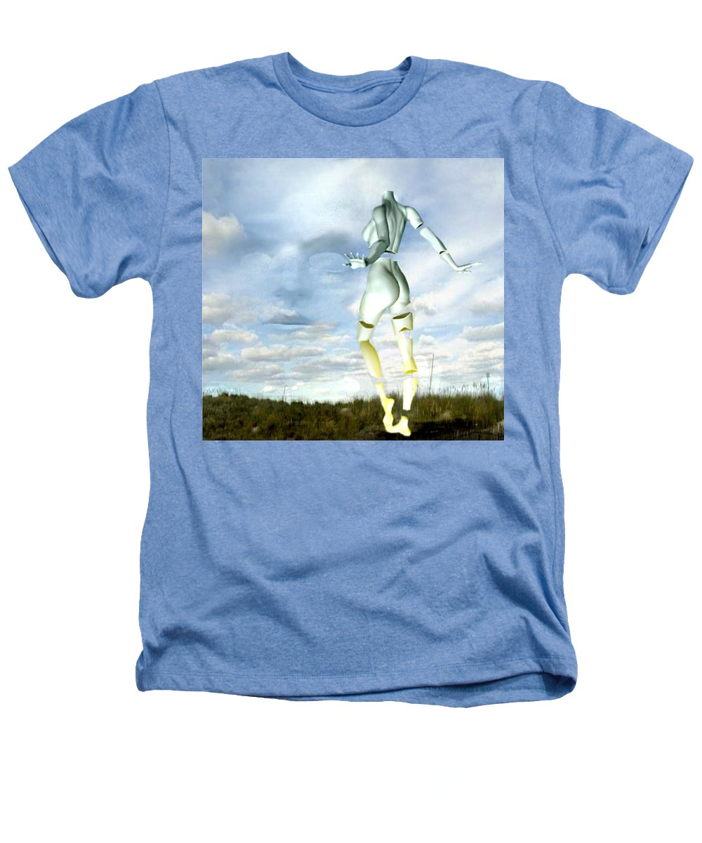 Sky Naked Woman Surreal Dance Heathers T-Shirt featuring the digital art Out Of My Mind... by Veronica Jackson
