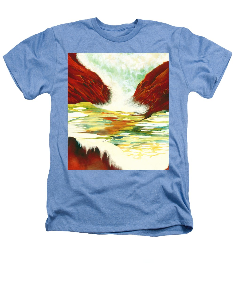 Oil Heathers T-Shirt featuring the painting Overflowing by Peggy Guichu