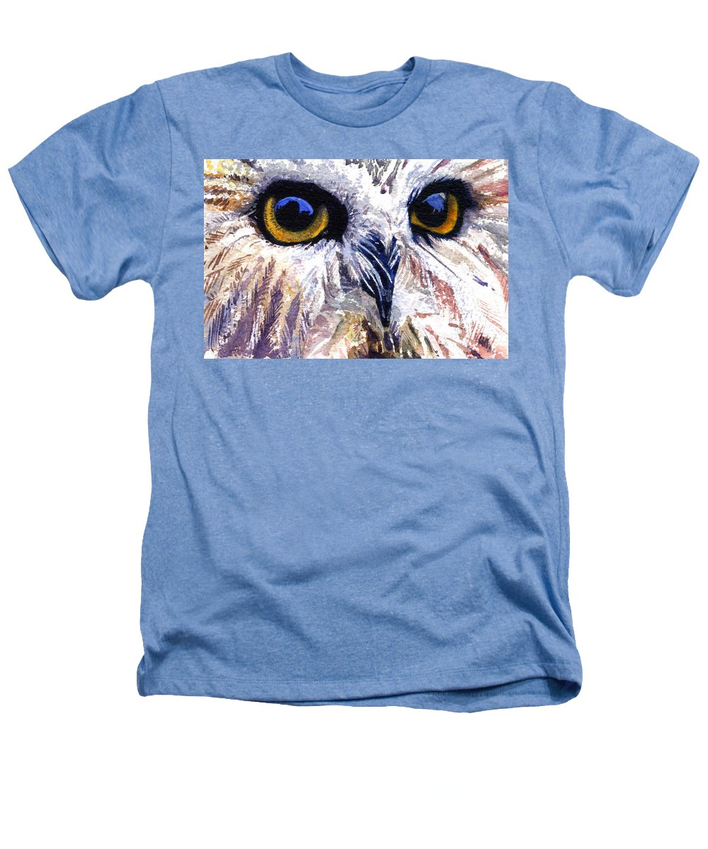 Eye Heathers T-Shirt featuring the painting Owl by John D Benson