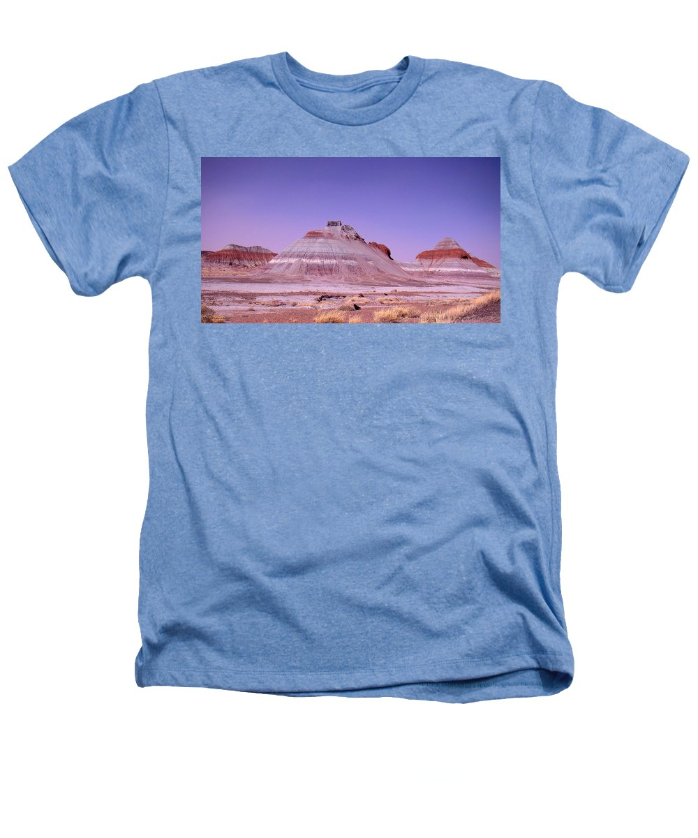 Painted Desert Heathers T-Shirt featuring the photograph Painted Desert Tepees by Merja Waters