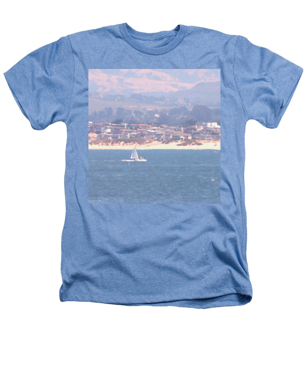Sailing Heathers T-Shirt featuring the photograph Pastel Sail by Pharris Art
