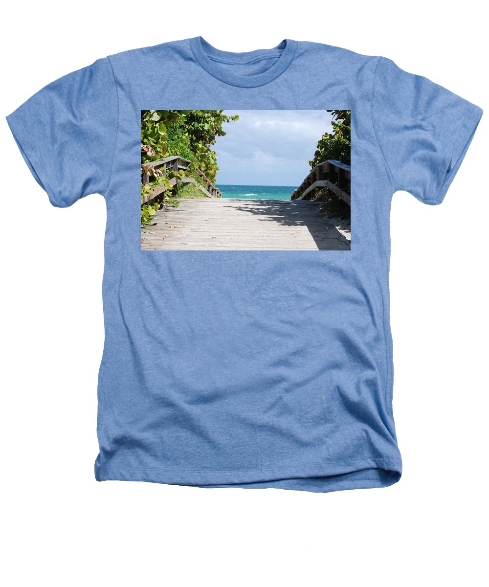 Sea Scape Heathers T-Shirt featuring the photograph Path To Paradise by Rob Hans