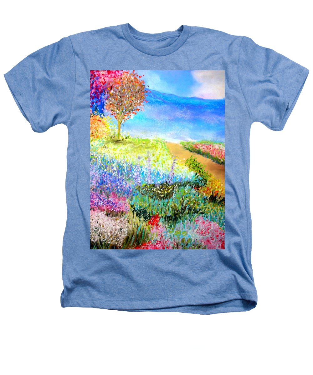Landscape Heathers T-Shirt featuring the print Patricia's Pathway by Melinda Etzold