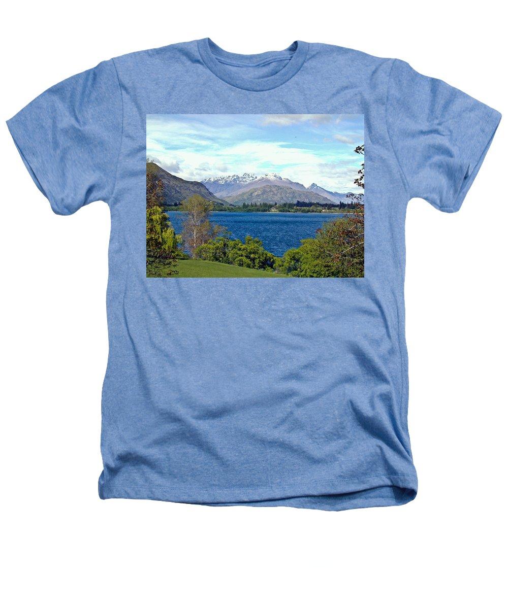 Lake Heathers T-Shirt featuring the photograph Peaceful Lake -- New Zealand by Douglas Barnett