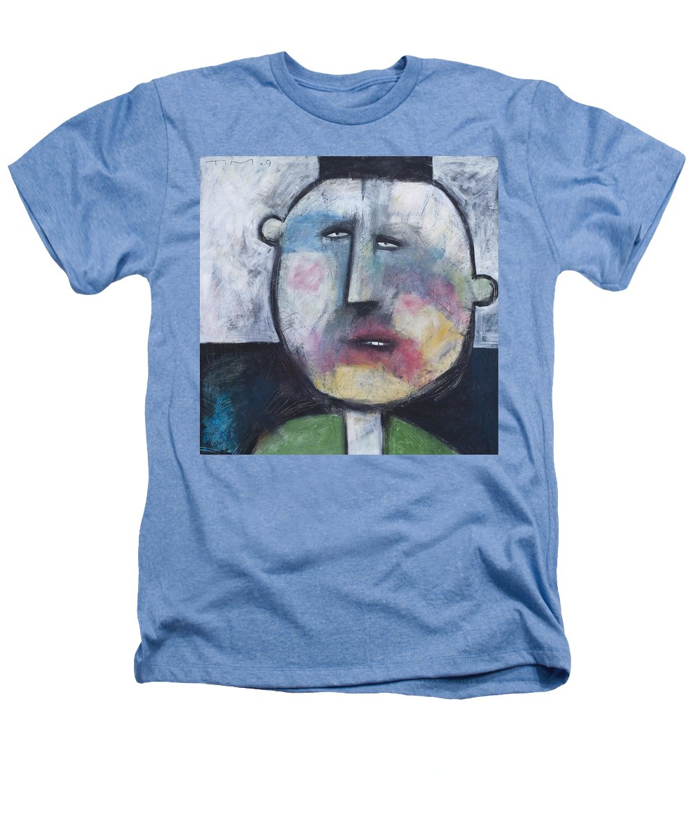 Funny Heathers T-Shirt featuring the painting Pillbox by Tim Nyberg