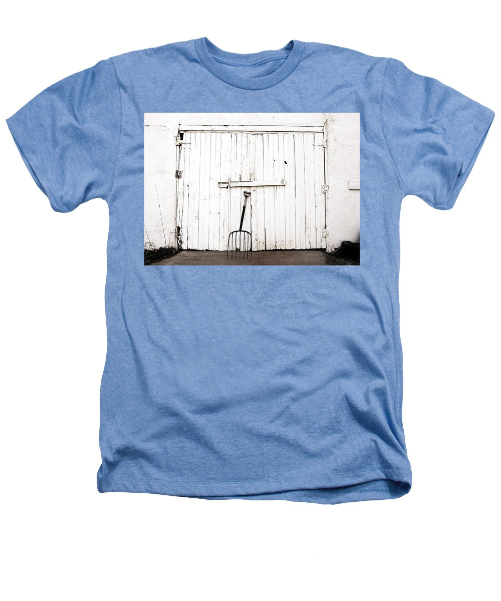 Americana Heathers T-Shirt featuring the photograph Pitch Fork by Marilyn Hunt