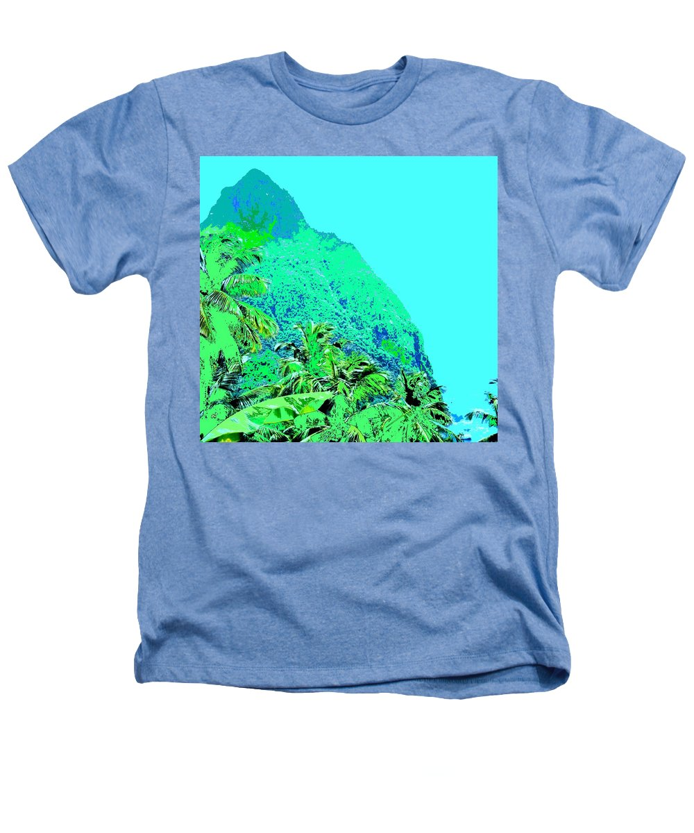 Pitons Heathers T-Shirt featuring the photograph Pitons by Ian MacDonald