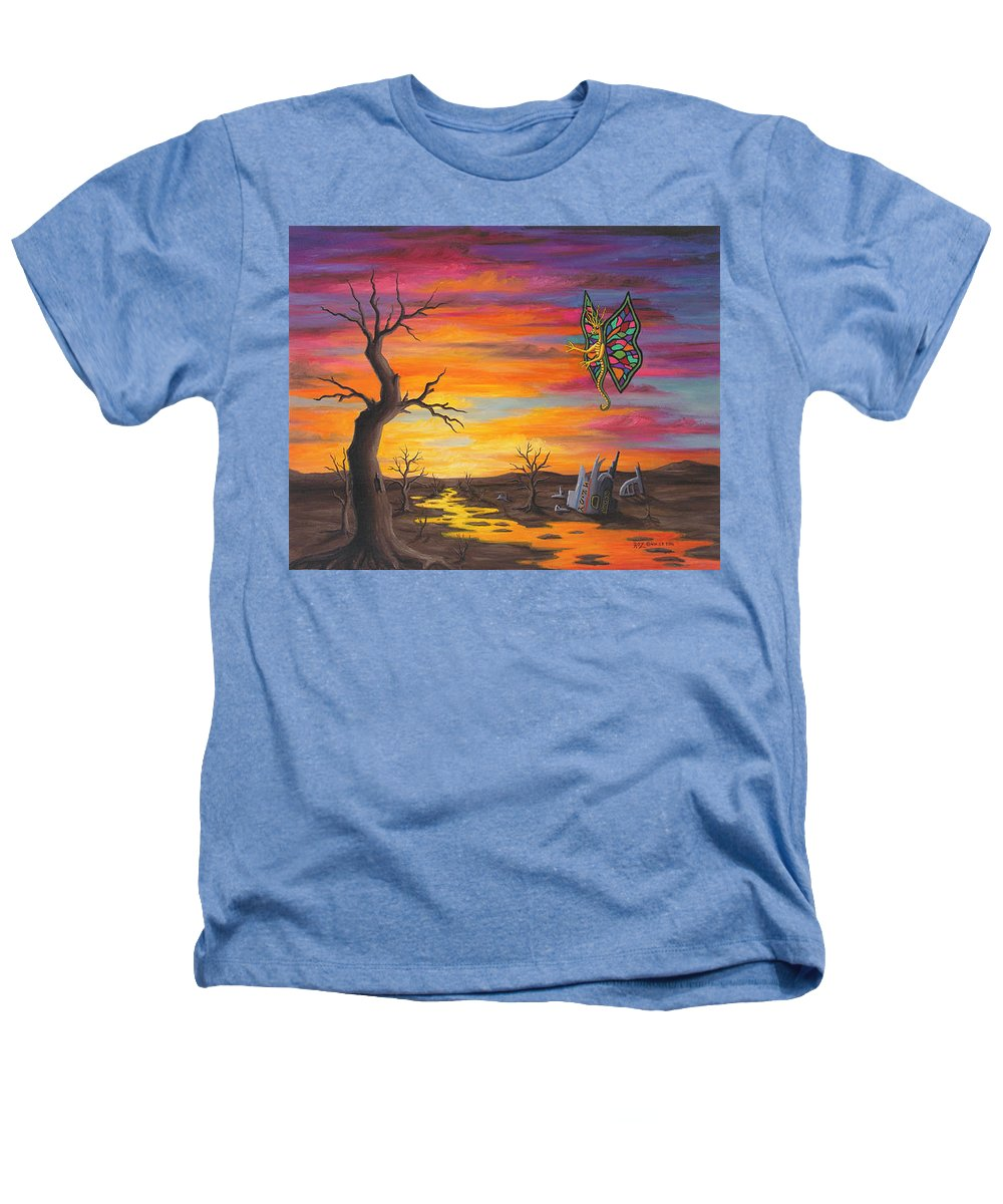 Fantasy Heathers T-Shirt featuring the painting Planet Px7 by Roz Eve