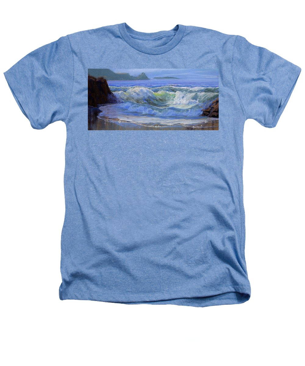 Seascape Heathers T-Shirt featuring the painting Point Reyes by Heather Coen