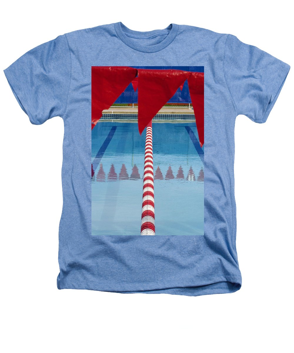 Flag Heathers T-Shirt featuring the photograph Pool by Skip Hunt