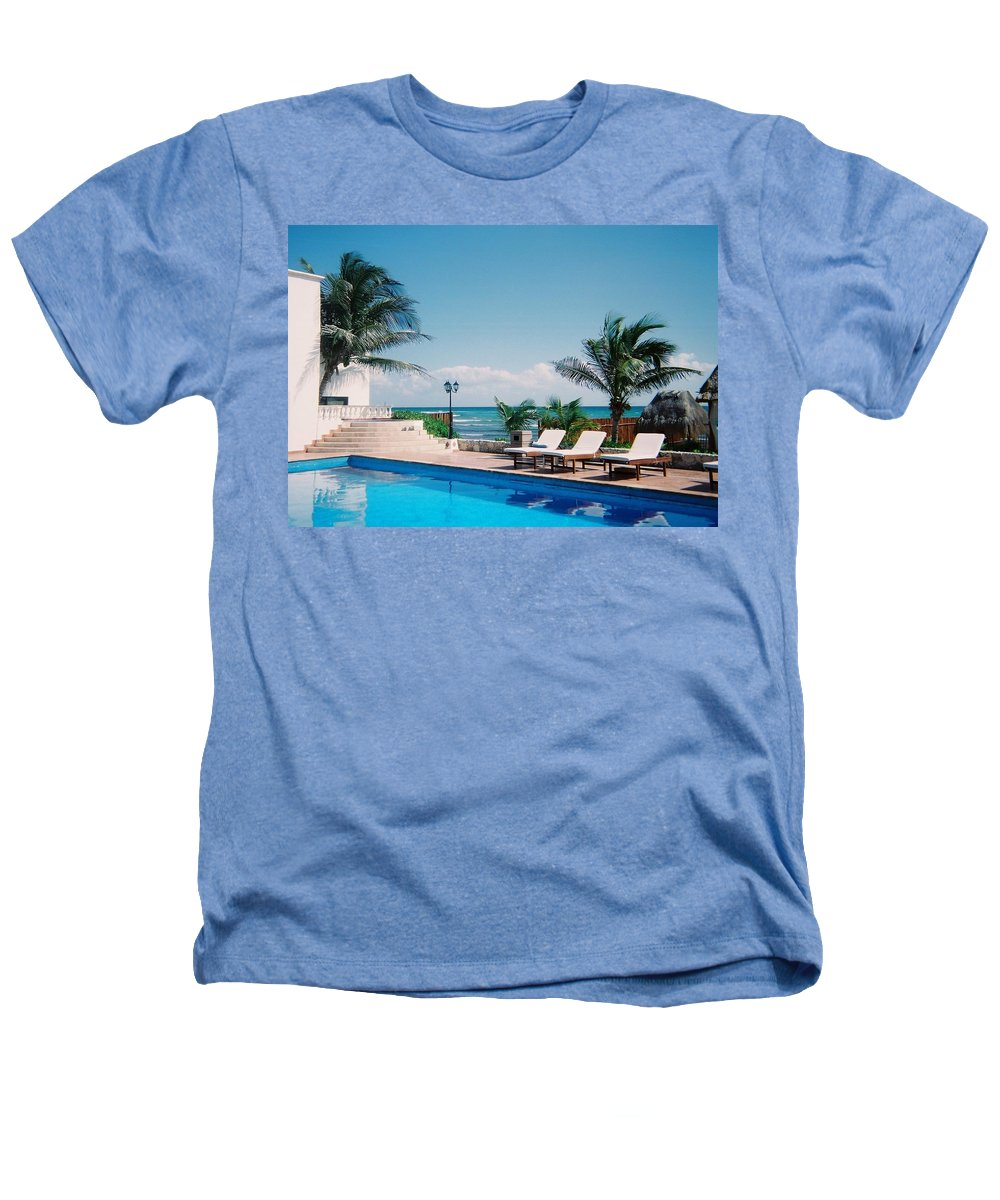 Resort Heathers T-Shirt featuring the photograph Poolside by Anita Burgermeister