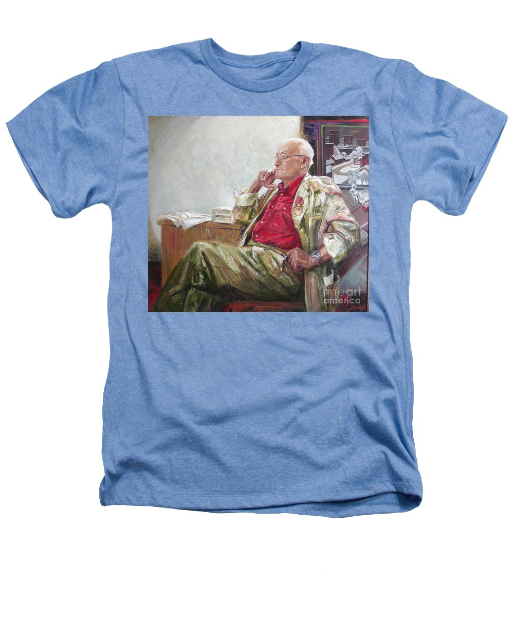 Oil Heathers T-Shirt featuring the painting Portrait Of May Dancig by Sergey Ignatenko
