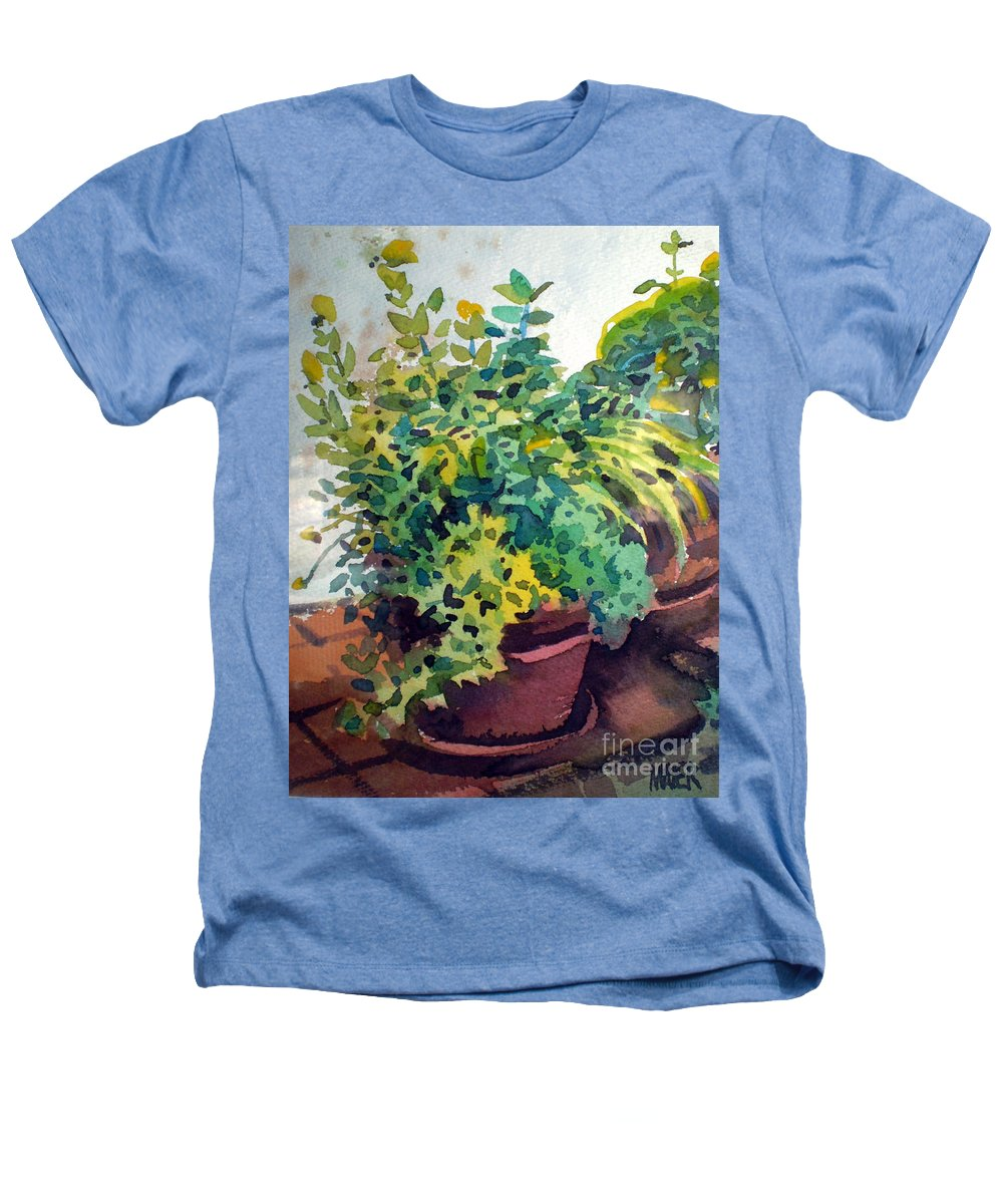 Herbs Heathers T-Shirt featuring the painting Potted Herbs by Donald Maier