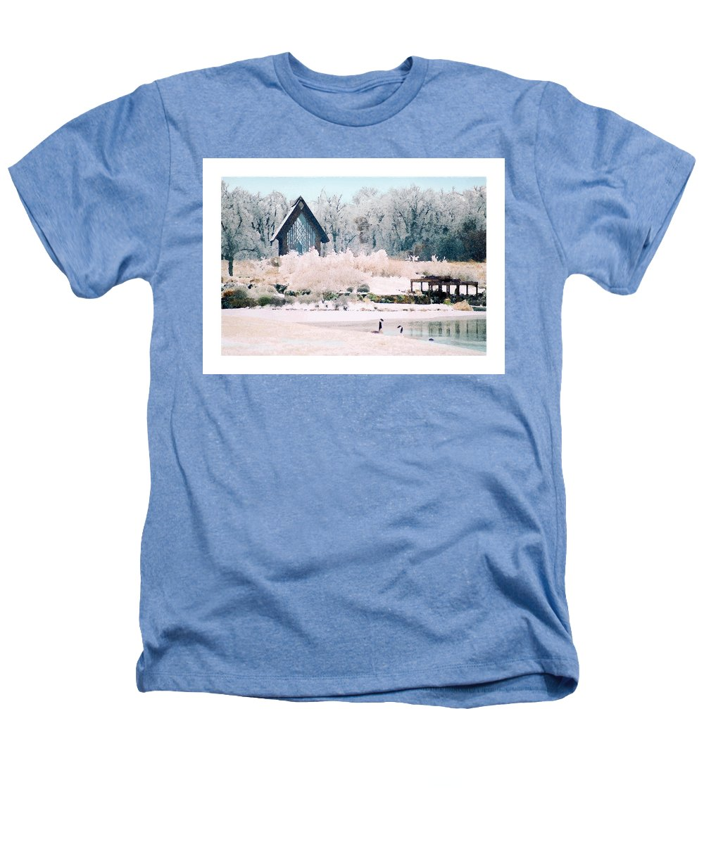 Landscape Heathers T-Shirt featuring the photograph Powell Gardens Chapel by Steve Karol