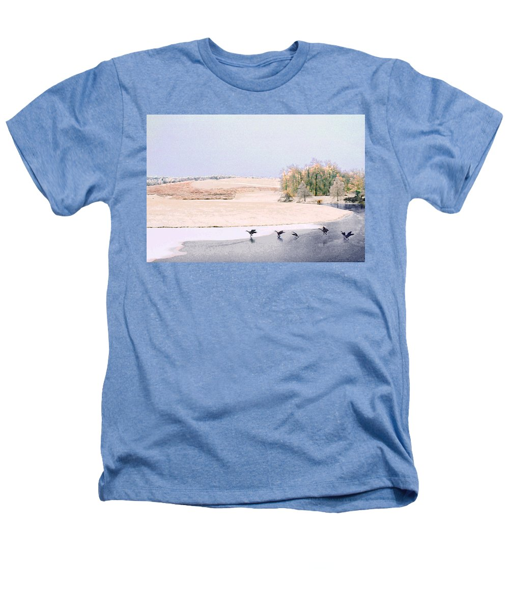 Landscape Heathers T-Shirt featuring the photograph Powell Gardens In Winter by Steve Karol