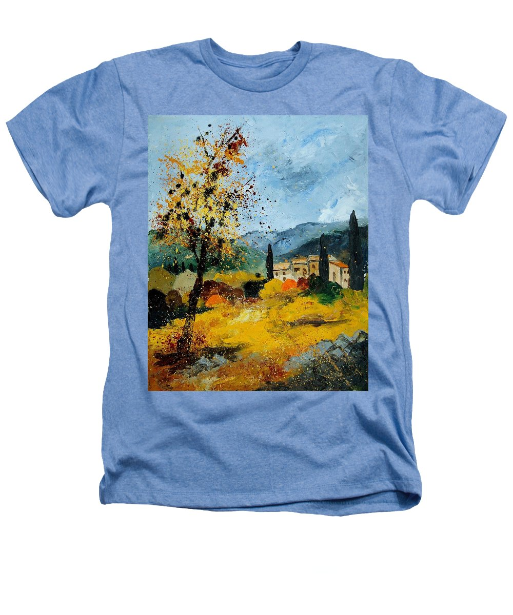 Provence Heathers T-Shirt featuring the painting Provence 45 by Pol Ledent