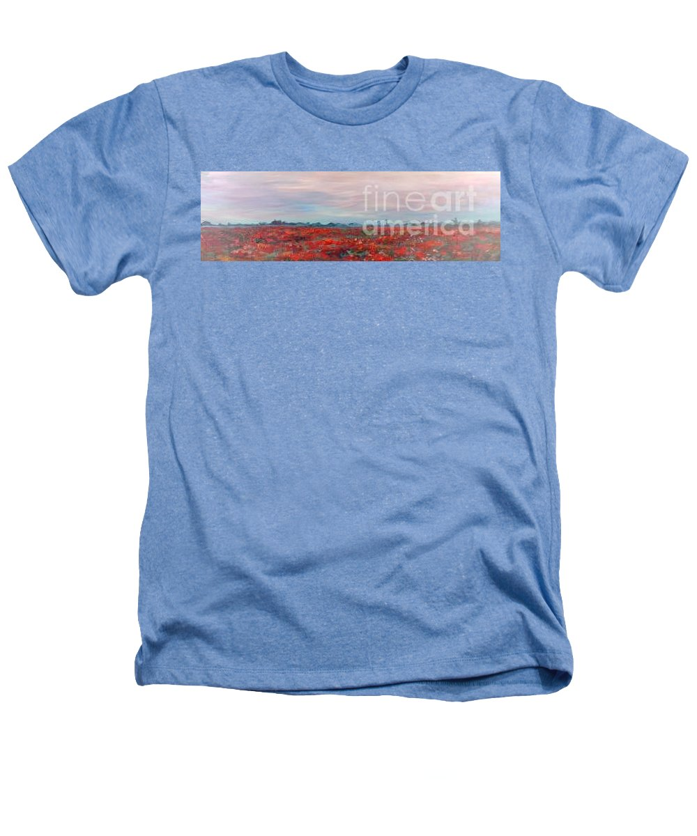 Poppies Heathers T-Shirt featuring the painting Provence Poppies by Nadine Rippelmeyer