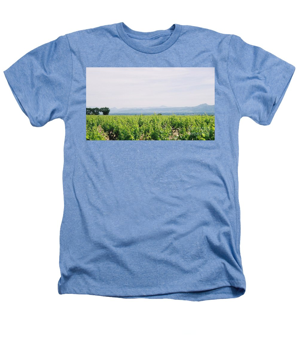 France Heathers T-Shirt featuring the photograph Provence Spring Vineyard by Nadine Rippelmeyer