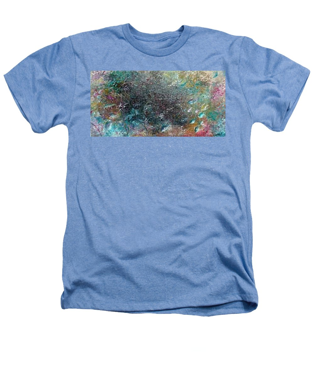 Original Abstract Painting Of Under The Sea Heathers T-Shirt featuring the painting Rainbow Reef by Karin Dawn Kelshall- Best