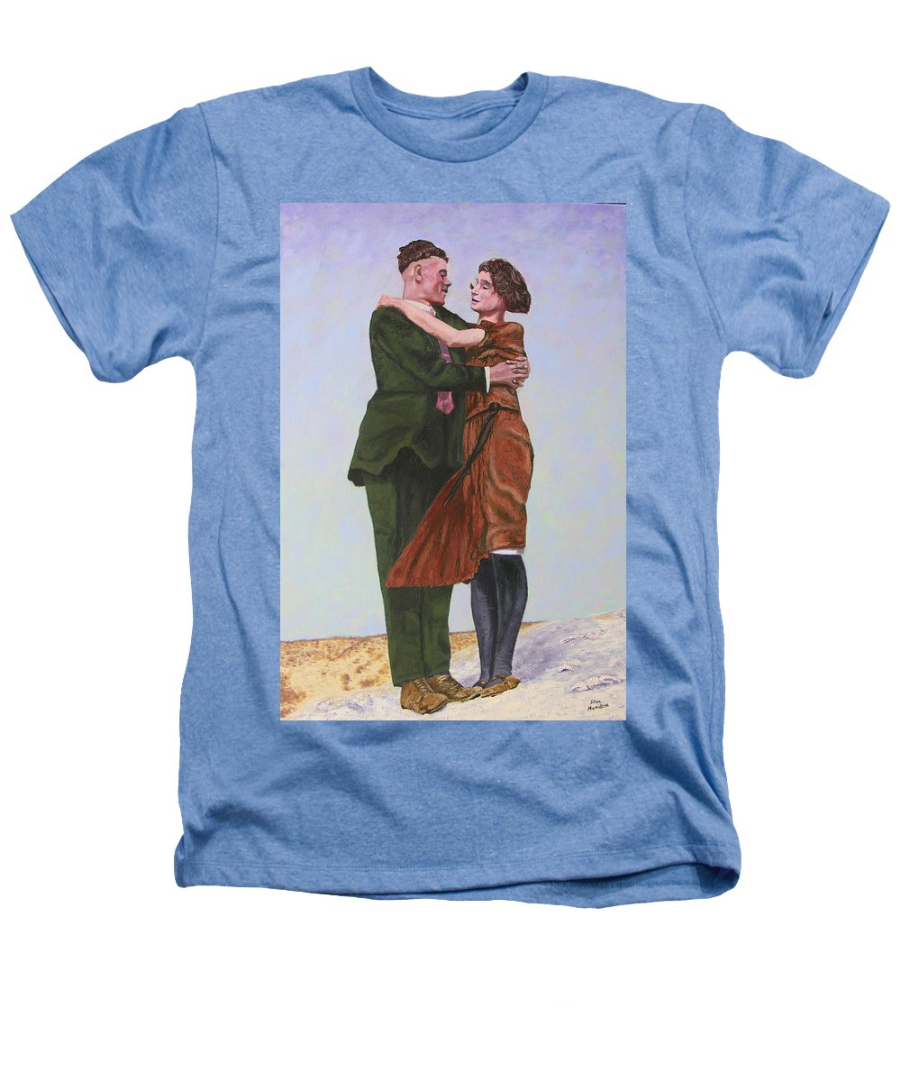 Double Portrait Heathers T-Shirt featuring the painting Ray And Isabel by Stan Hamilton