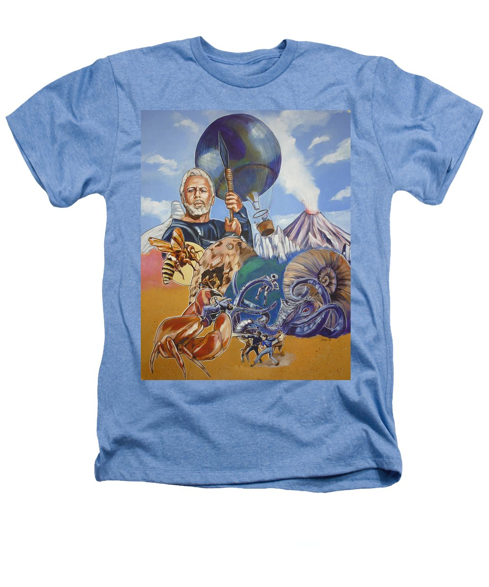 Mysterious Island Heathers T-Shirt featuring the painting Ray Harryhausen Tribute The Mysterious Island by Bryan Bustard