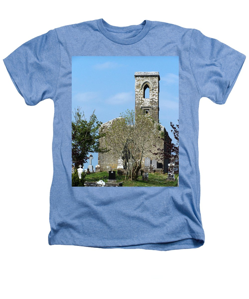 Fuerty Heathers T-Shirt featuring the photograph Rear View Fuerty Church And Cemetery Roscommon Ireland by Teresa Mucha