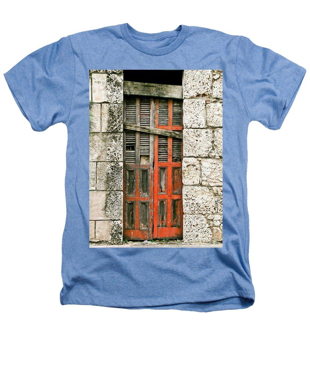 Door Heathers T-Shirt featuring the photograph Red Door by Douglas Barnett